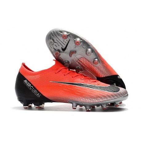 Nike Mercurial Vapor XII Elite AG-PRO Artificial-Grass Crimson Black Silver