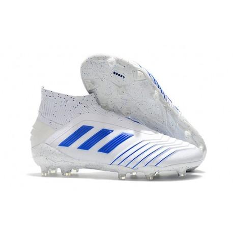 adidas Predator Virtuso 19+ FG Firm Ground Boots - White Blue