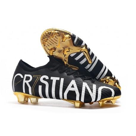 Cristiano Ronaldo Nike Mercurial Vapor 12 Elite CR7 FG Black Golden