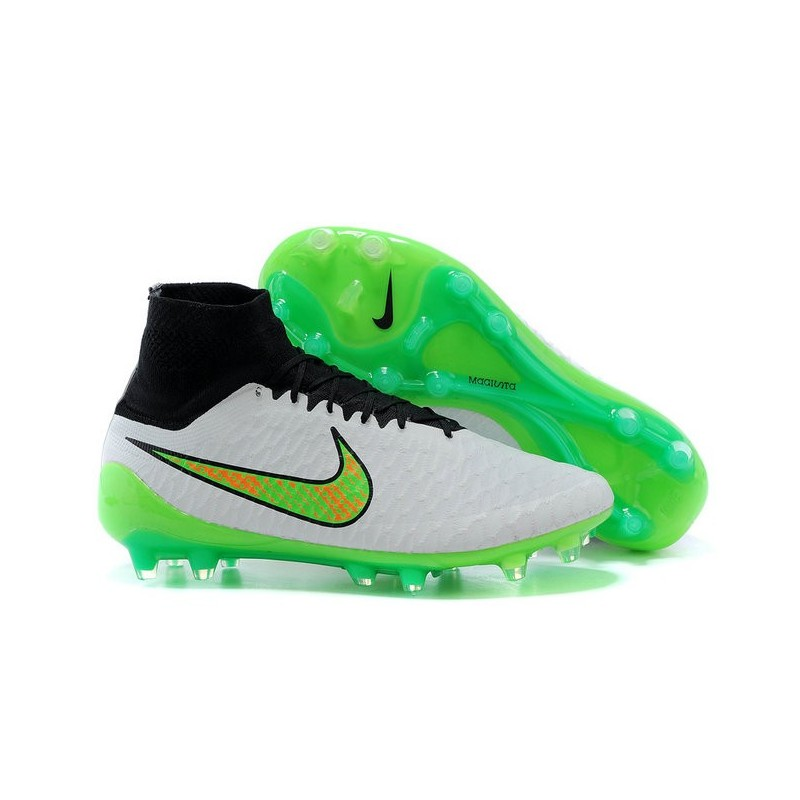 Top Nike Magista Obra FG ACC Mens Soccer Boots White Green Black