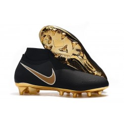 Nike Phantom Vision Elite DF FG 2019 Cleats Black Gold