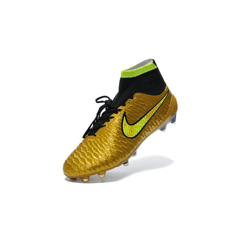 Top Nike Magista Obra FG ACC Mens Soccer Boots Golden Black Volt