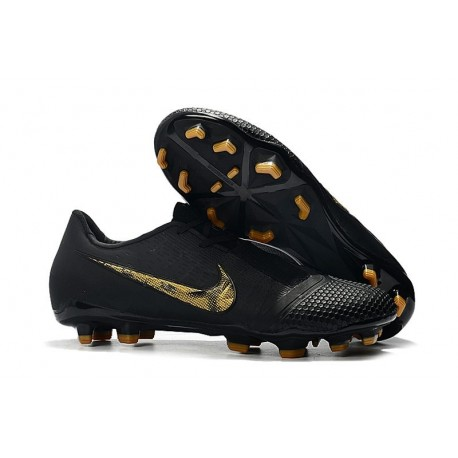 Nike Phantom VNM Elite FG Soccer Boots Black Metallic Gold
