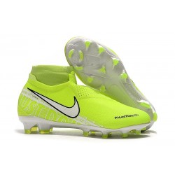 Nike Phantom Vision Elite DF FG 2019 Cleats Volt White