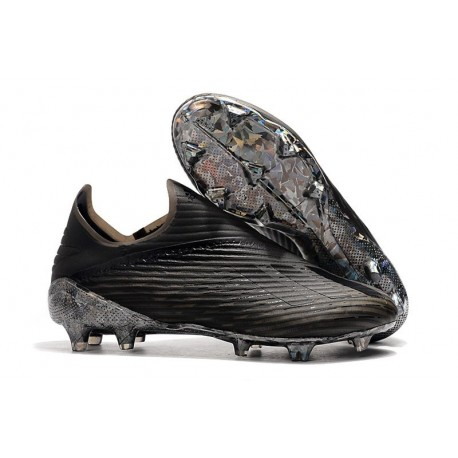 adidas X 19+ FG Dark Script Soccer Cleats Black
