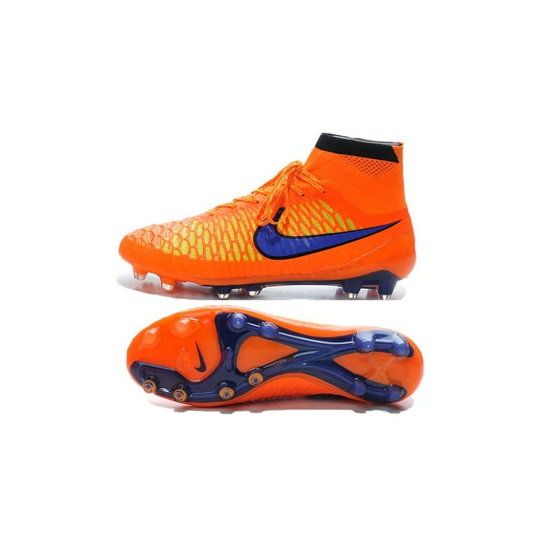 Top Nike Magista Obra FG ACC Mens Soccer Boots Orange Purple