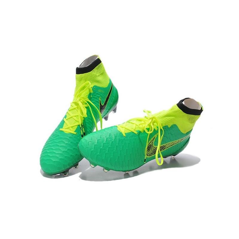 Top Nike Magista Obra FG ACC Mens Soccer Shoes Green Volt Black