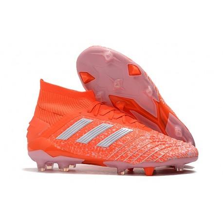 adidas Predator 19.1 FG Soccer Cleat Orange White