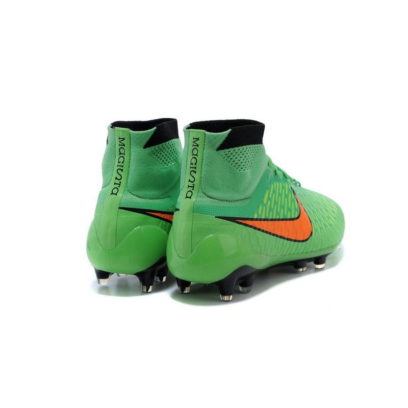 Nike New Men Football Shoes Magista Obra FG ACC Green Orange