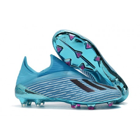 adidas X 19+ FG Soccer Cleats Bright Cyan Black