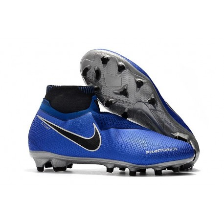 Nike Phantom Vision Elite DF Firm Ground Cleats Blue Black
