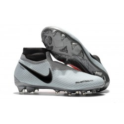 Nike Phantom Vision Elite DF Firm Ground Cleats Gray Red