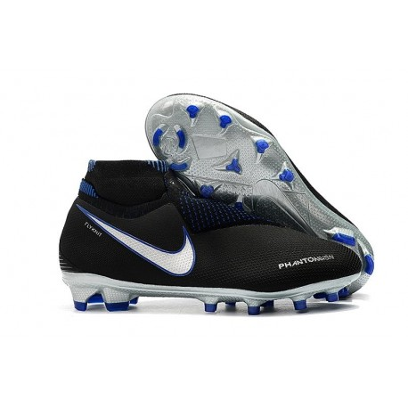 Nike Phantom Vision Elite DF Firm Ground Cleats Black Silver