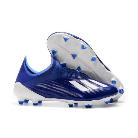adidas X 19.1 FG Soccer Cleats - Blue White