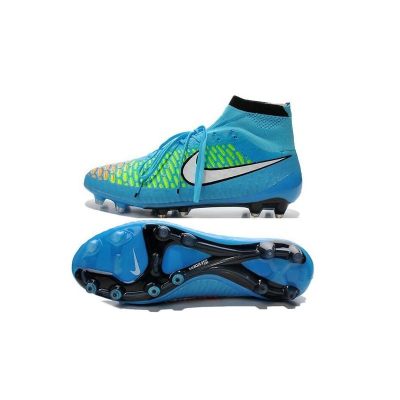 Nike New Men Football Shoes Magista Obra FG ACC Blue White Hyper Punch