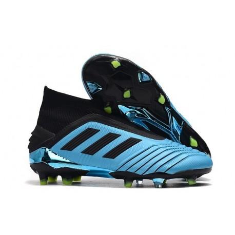 adidas Predator 19+ FG Firm Ground Boots - Bright Cyan Black