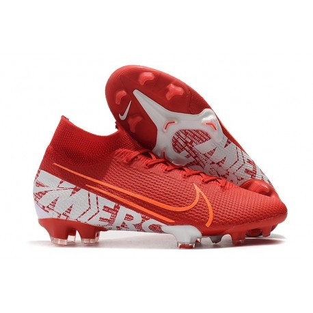 Nike Mercurial Superfly 7 Elite FG Soccer Cleats Red White