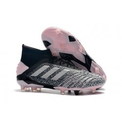 New adidas Predator 19+ FG Soccer Cleat Black Silver Grey