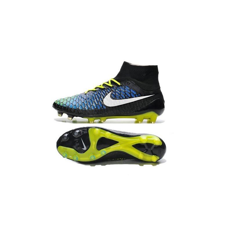 Nike New Men Football Shoes Magista Obra FG ACC Black Blue White
