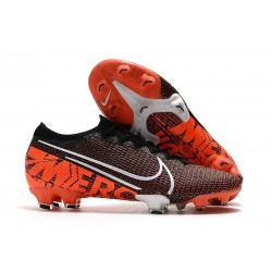 Nike Mercurial Vapor 13 Elite FG New Cleats Black White Hyper Crimson