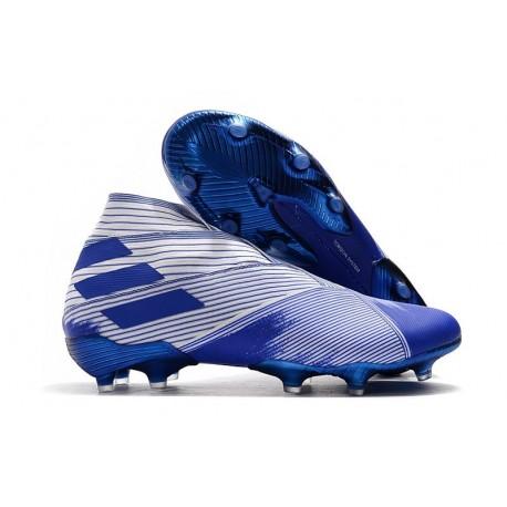 adidas Nemeziz 19+ FG Soccer Cleats White Blue