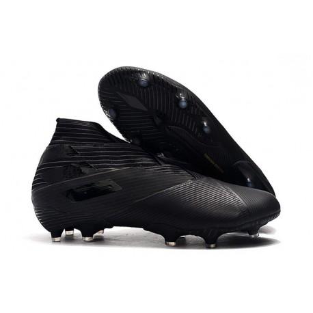 adidas Nemeziz 19+ FG Soccer Cleats All Black