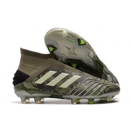 New adidas Predator 19+ FG Soccer Cleat Legacy Green Sand Solar Yellow