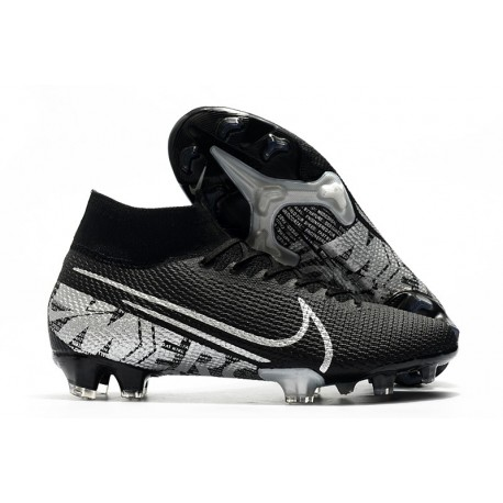 New Nike Mercurial Superfly VII Elite SE FG Boots Black Metallic Cool Grey