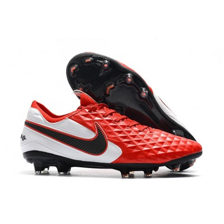 Nike Tiempo Legend VIII Elite FG Cleats Red White Black