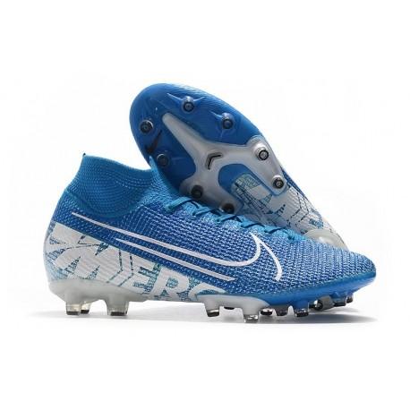 Nike Mercurial Superfly 7 Elite SE AG Blue White