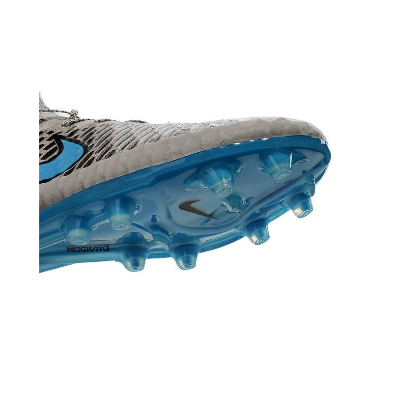 New 2015 Nike Magista Obra FG ACC Men Soccer Cleats Wolf Grey Turquoise Blue Black