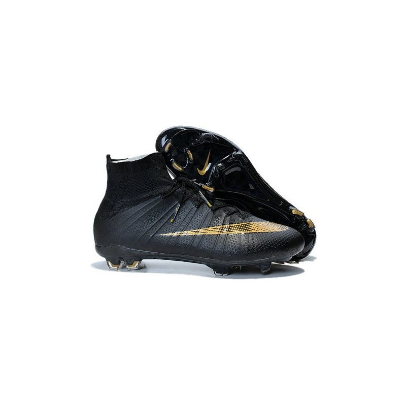Nike 2015 Soccer Boot Mercurial Superfly 4 FG ACC Black Gold