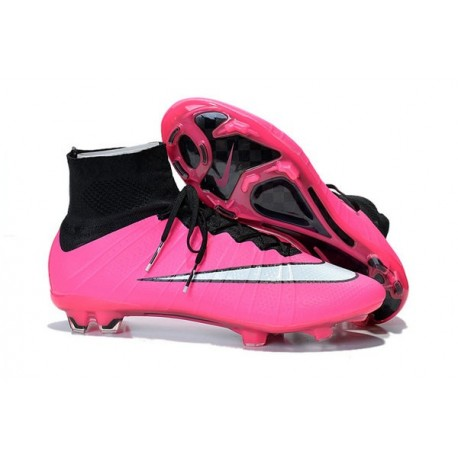 Nike 2015 Soccer Boot Mercurial Superfly 4 FG ACC Pink White Black