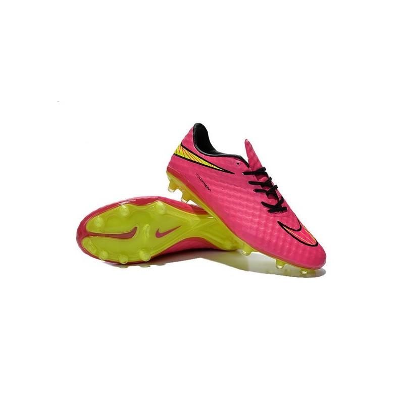 Nike HyperVenom Phantom FG ACC Neymar Shoes Pink Yellow