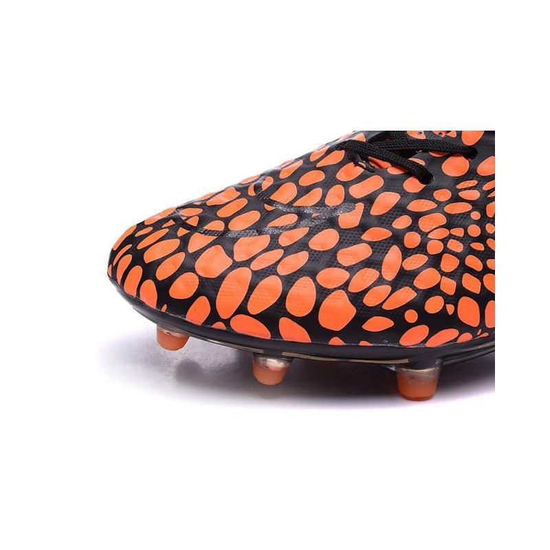 Nike HyperVenom Phantom FG ACC Neymar Shoes Orange Black