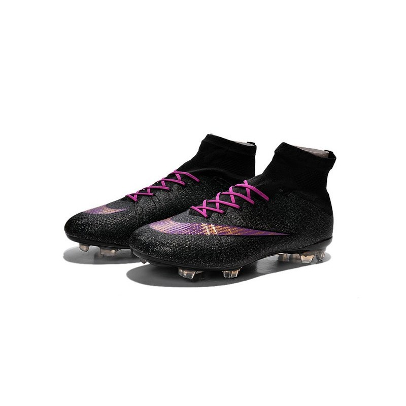 Nike 2015 Soccer Boot Mercurial Superfly 4 FG ACC Black Purple
