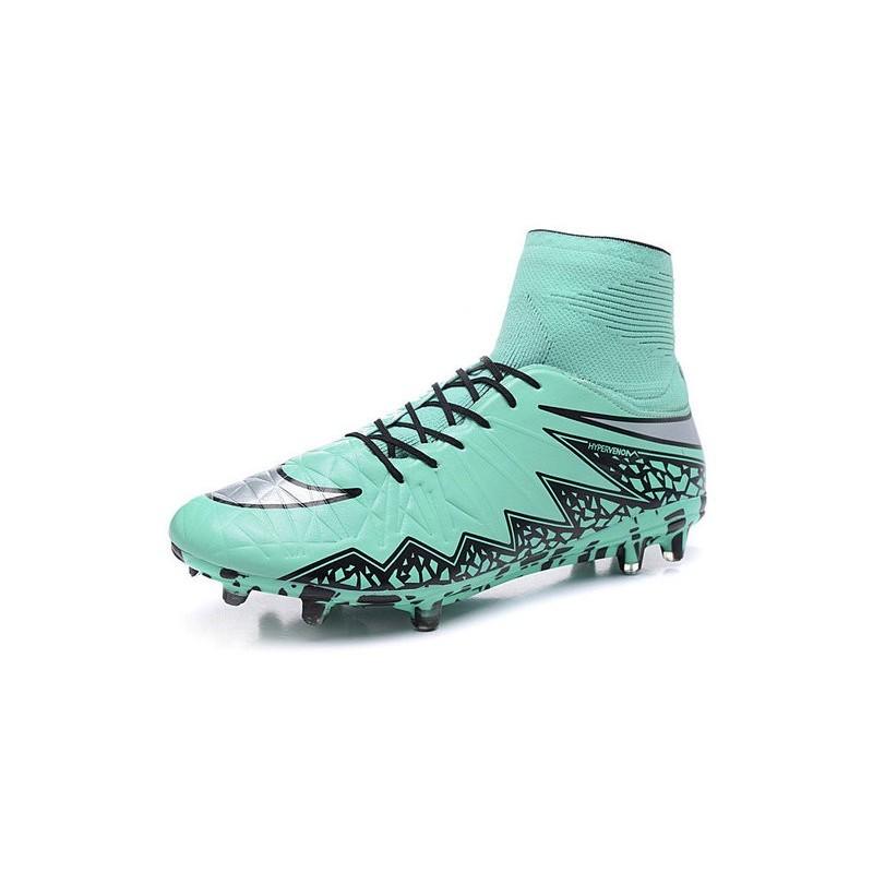 aa13d79a6 New 2015 Soccer Cleats Nike Hypervenom Phantom II FG ACC Light Green Black  Silver Maximize. Previous. Next