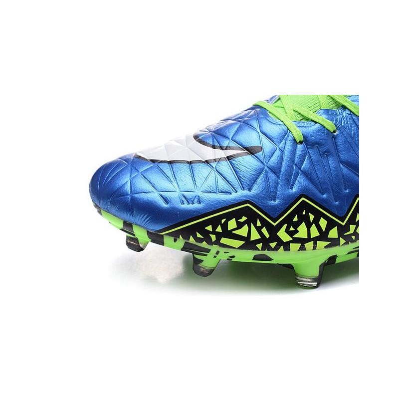 Nike 2015 Mens Boots Hypervenom Phantom II FG ACC Blue Lagoon Volt White