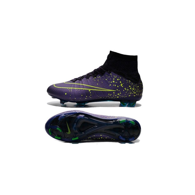 Nike 2015 Soccer Boot Mercurial Superfly 4 FG ACC Purple Volt Black