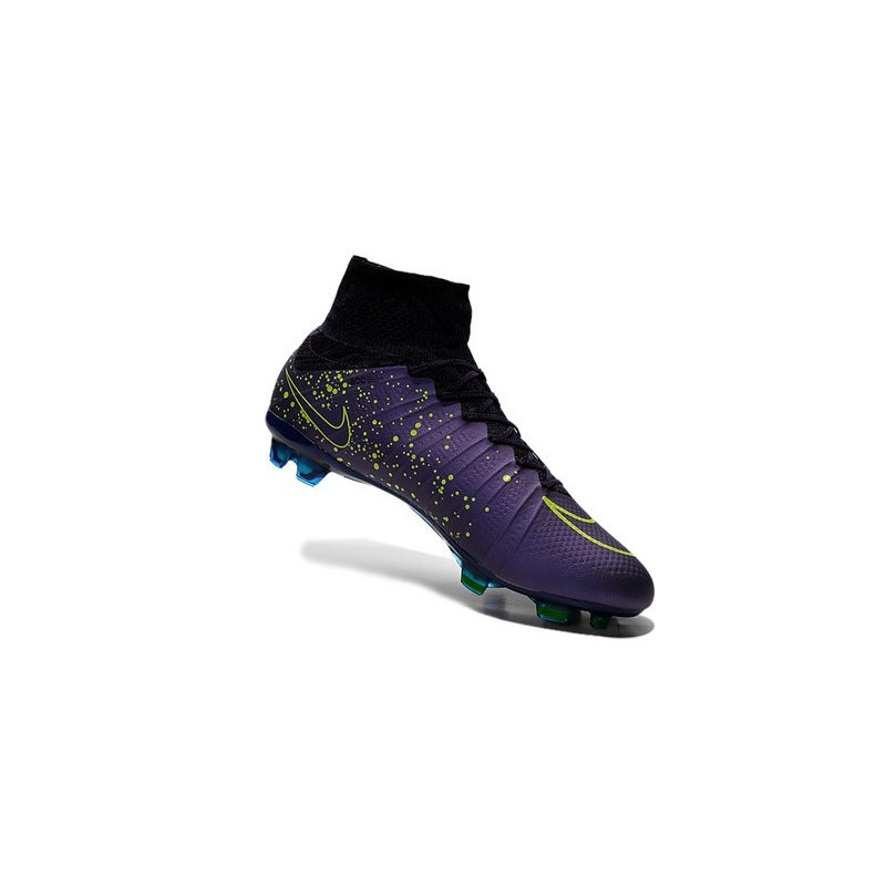 Nike 2015 Soccer Boot Mercurial Superfly 4 FG ACC Purple Volt Black