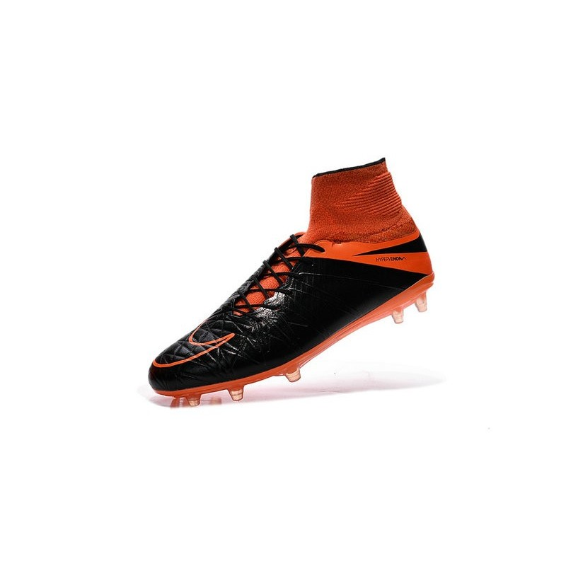 Nike 2015 Mens Boots Hypervenom Phantom II FG ACC Black Orange