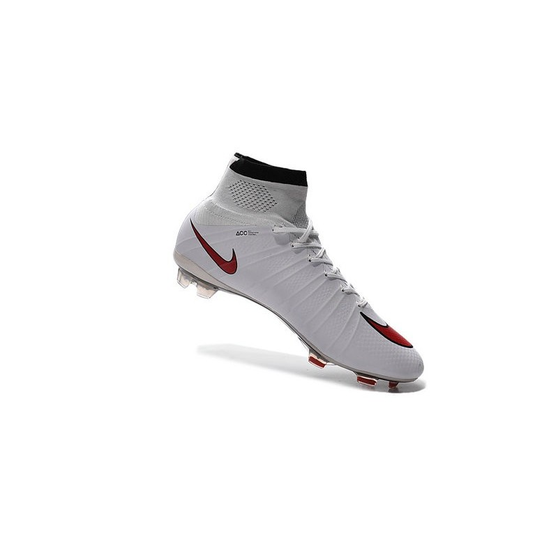 Nike 2015 Soccer Boot Mercurial Superfly 4 FG ACC White Red