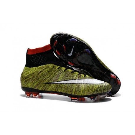 New Top Nike Mercurial Superfly Iv FG Cleat Green White Black