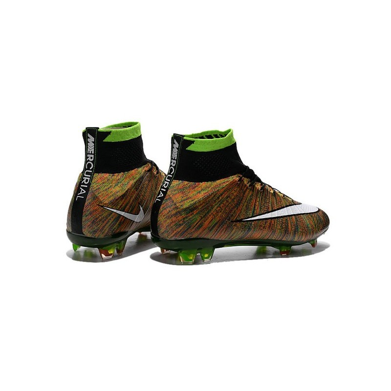 New Top Nike Mercurial Superfly Iv FG Cleat Multi Colour White Black