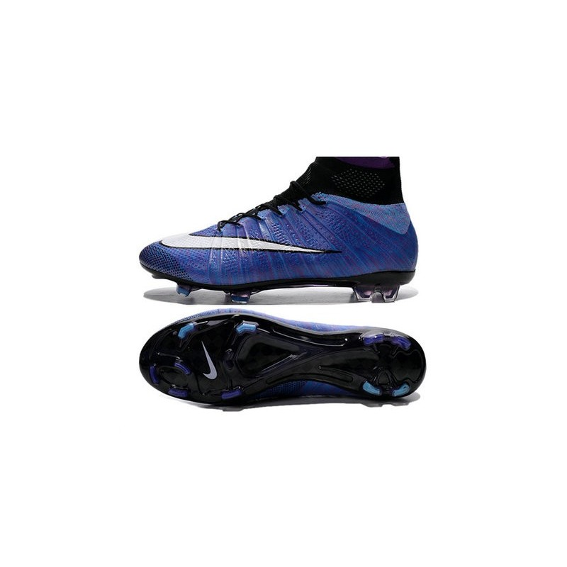 New Top Nike Mercurial Superfly Iv FG Cleat Purple White Black