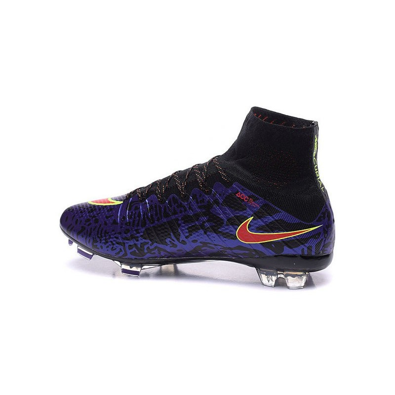 Mens 2015 Nike Mercurial Superfly 4 FG Soccer Boot Purple Red Black