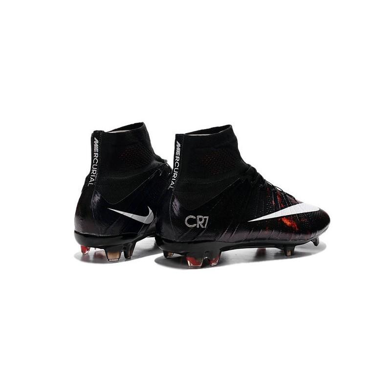 Cristiano Ronaldo 2015 Nike Mercurial Superfly CR7 FG Soccer Boot Black White