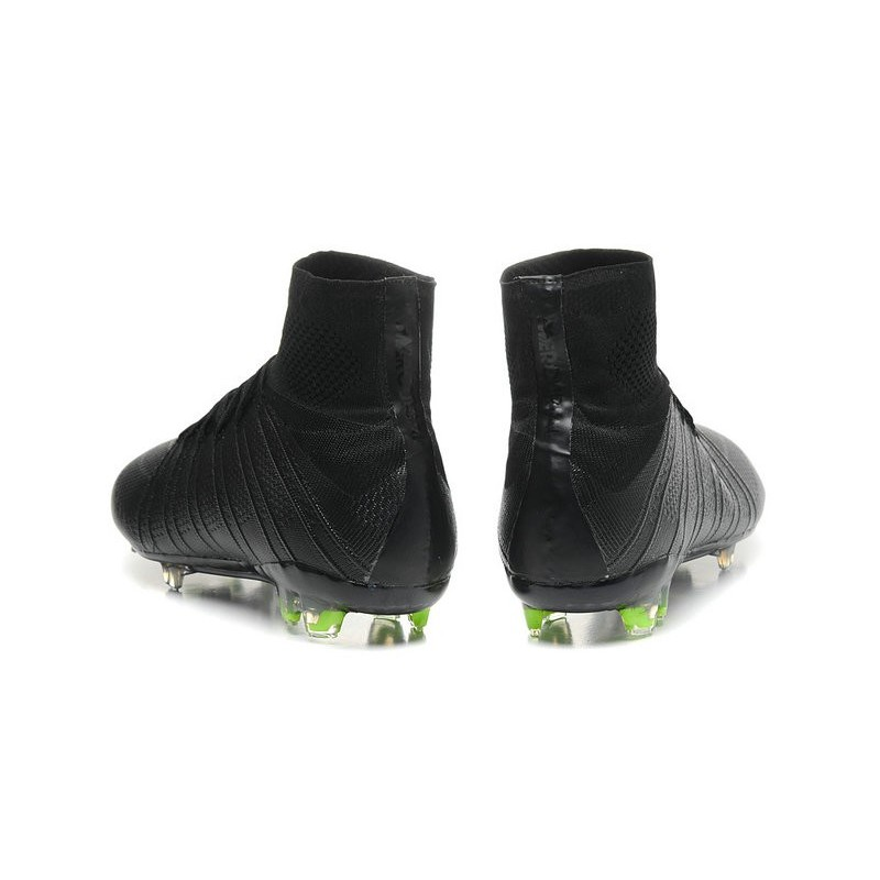 Mens 2015 Nike Mercurial Superfly 4 FG Soccer Boot All Black