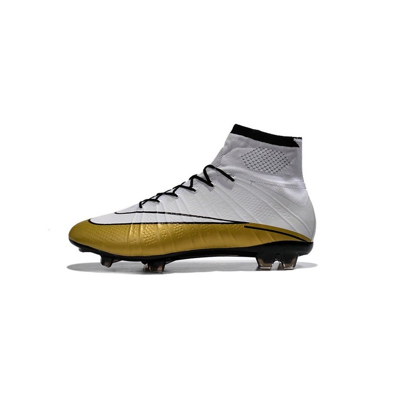 new style f0ba8 50414 White Gold CR7 Nike Mercurial Superfly 4 FG Soccer Boot