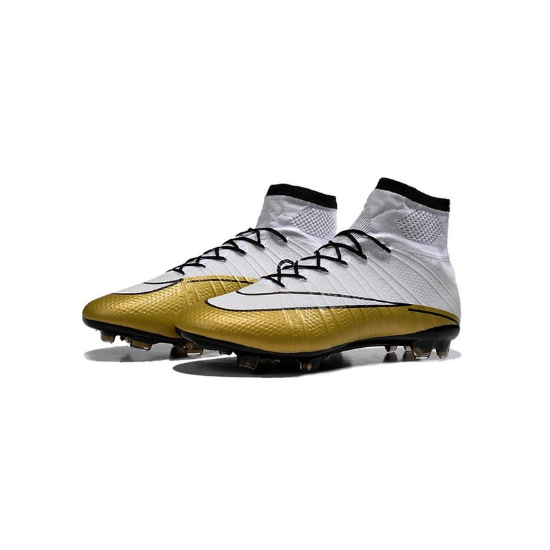 White Gold CR7 Nike Mercurial Superfly 4 FG Soccer Boot